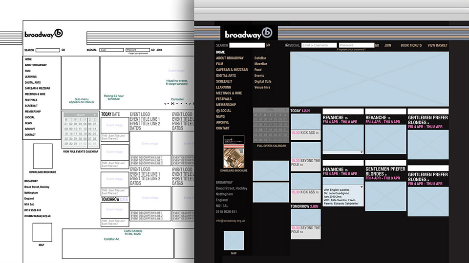 Wireframe and stylesheet design