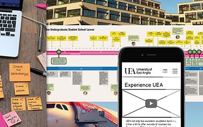 UX research and design, business transformation, University of East Anglia