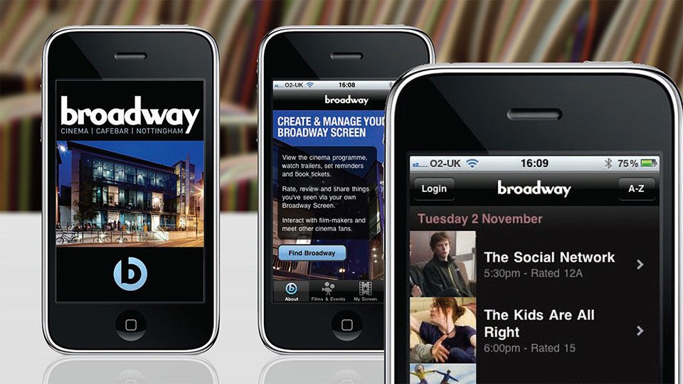 Broadway Cinema App for iPhone