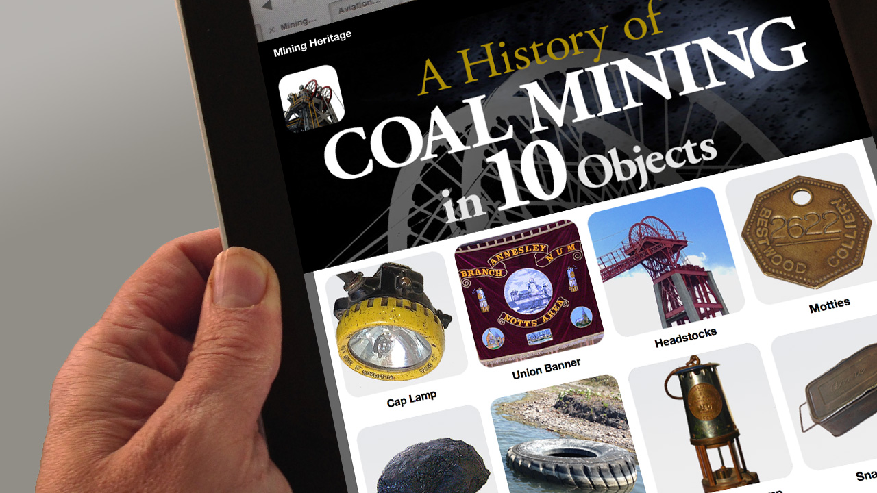 History of Coal Mining in 10 Objects, responsive design on Apple iPad