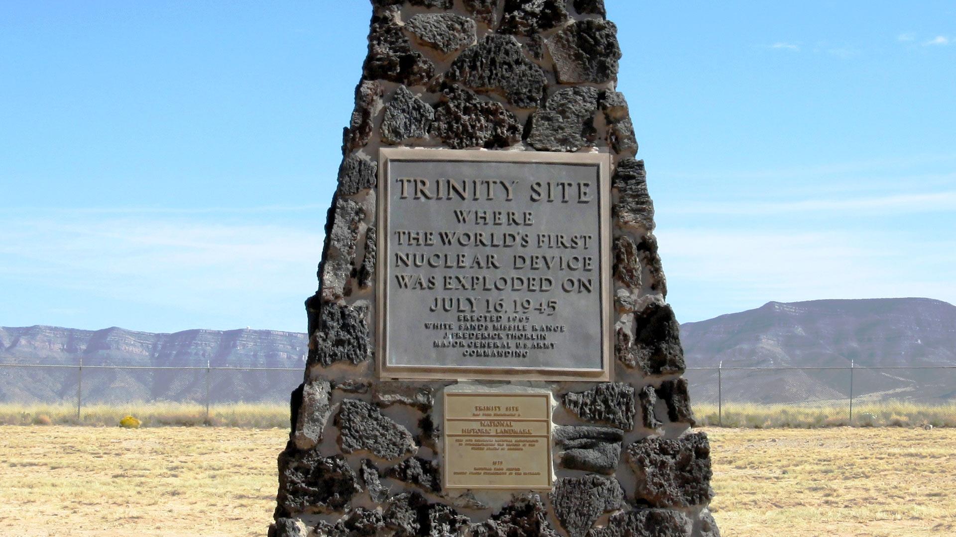 White Sands Missile Range Atomic Trinity